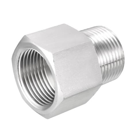 "Pipe to Fitting Adapter, Gauge Adapter, 3/4"" NPT Male x 3/4"" NPT Female Pipe"