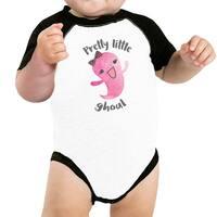 Pretty Little Ghoul Baby Halloween Baseball Bodysuit Baby Raglan Tee