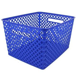 Large Blue Woven Basket