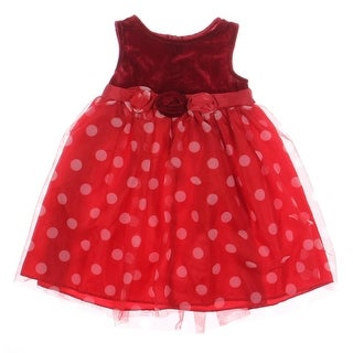 Good Lad Toddler Girls Velvet Party Dress - 2T