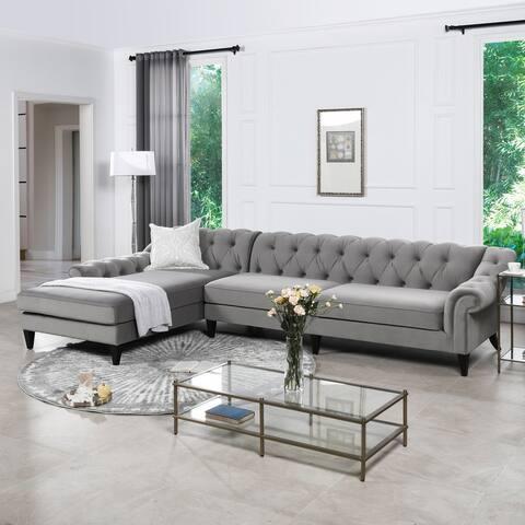 Gracewood Hollow Samkange Tufted Sectional Sofa