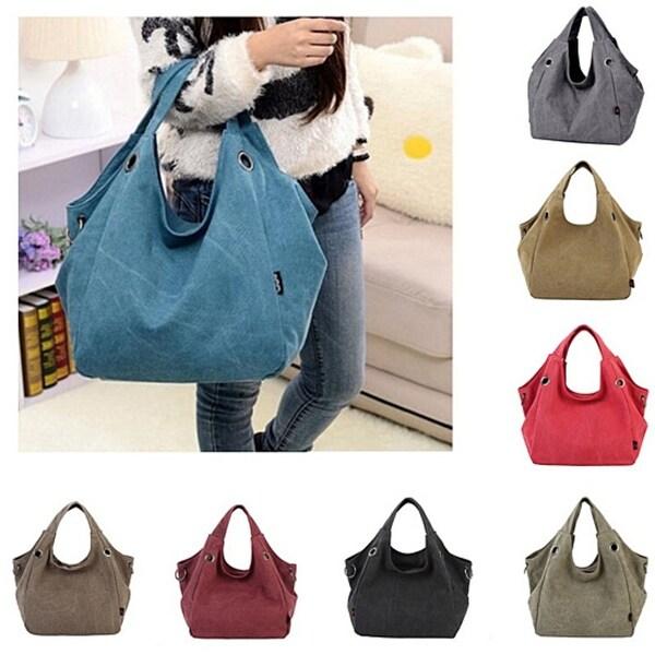 fadf6d76d1c7 Shop Fashion Vintage Canvas Women Totes Handbag Hobo Shoulder Bag ...