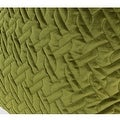 """G Home Collection Luxury Green Braid Textured Quilting Pillow 24""""X24"""" - Thumbnail 3"""
