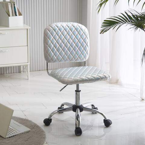 Urban Shop Holographic Quilted Adjustable Office Task Chair