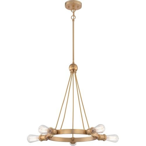 "Nuvo Lighting 60/5715 Paxton 5 Light 27-3/4"" Wide Ring Chandelier"