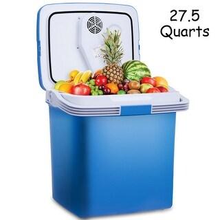 Plug In Cooler >> Shop Gymax 26l Portable Electric Cooler Fridge Food Warmer Digital