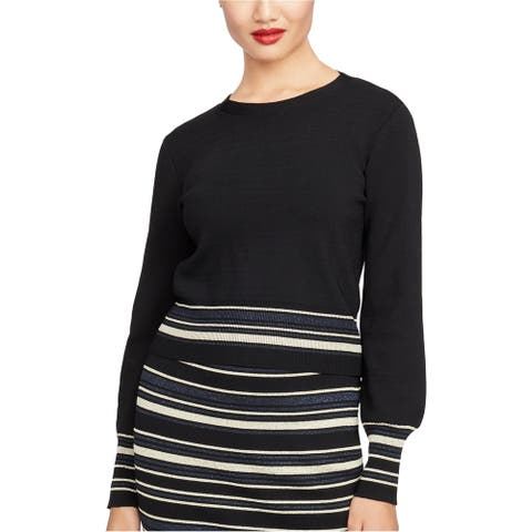 Rachel Roy Womens Tie-Back Pullover Sweater, Blue, X-Large