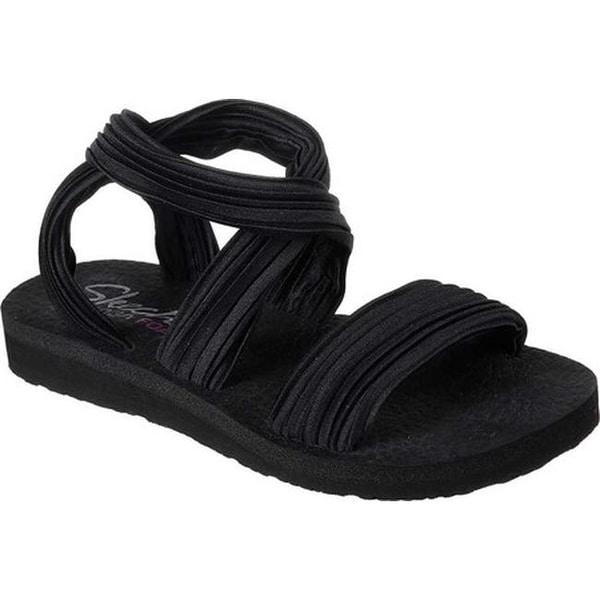 c324ef41a24a Shop Skechers Women s Meditation Still Sky Ankle Strap Sandal Black ...
