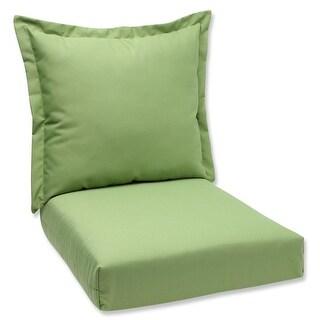 "44"" Sunbrella Green Outdoor Patio Deep Seating Cushion and Back Pillow"
