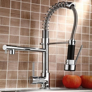 Link to Pull-down Stainless 2-function Spray Swivel Kitchen Faucet Similar Items in Faucets