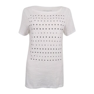 Tommy Hilfiger Women's Embellished T-Shirt - White