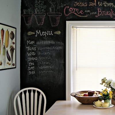 Walplus Blackboard Chalkboard Wall Sticker 79 inches Peel & Stick with Chalks