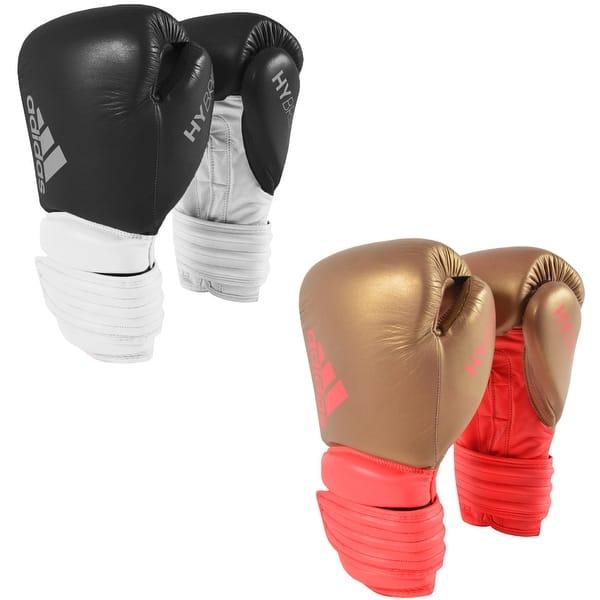 Bebida alcanzar tono  Adidas Hybrid 300 Hook and Loop Leather Training Boxing Gloves - Overstock  - 16067403