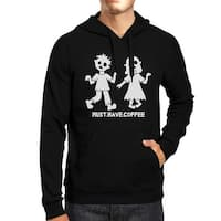 Coffee Zombies Black Halloween Hoodie For Funny Coffee Lover Gifts