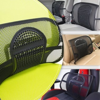Mesh Lumbar Support Elastic Strap Chair Back Support for Car Office Home