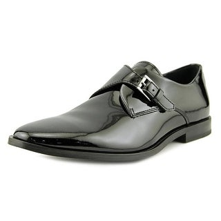 Calvin Klein Norm Men  Round Toe Patent Leather Black Oxford