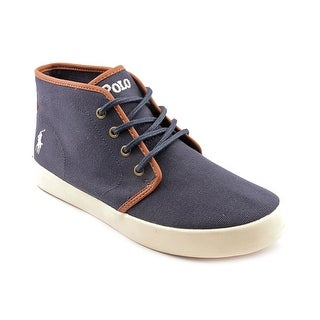 Polo Ralph Lauren Ethan Mid Lace Up Round Toe Canvas Sneakers
