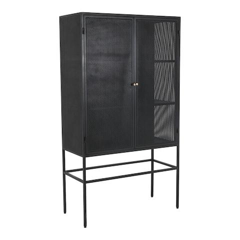 Aurelle Home Modern Iron Mesh Cabinet