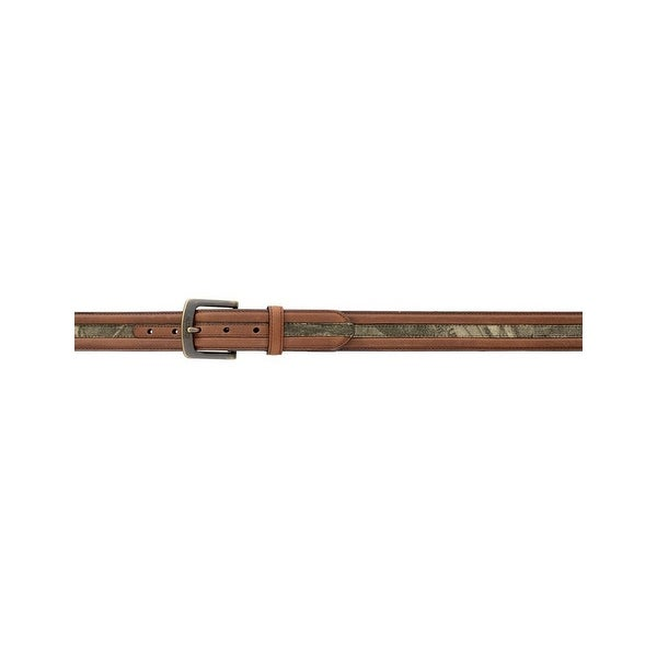 Rocky Western Belt Mens Distressed Leather Mossy Oak Brown - 42