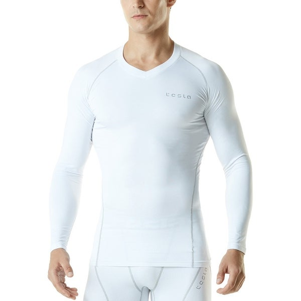 TSLA Mens Thermal Wintergear Compression Baselayer Long Sleeve Top