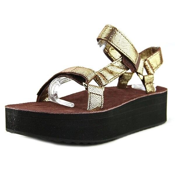 Teva Flatform Universal Radiant Women Open-Toe Leather Sport Sandal