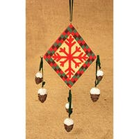 "6"" Rustic Lodge Southwestern Snowflake Diamond Christmas Ornament #W3564"