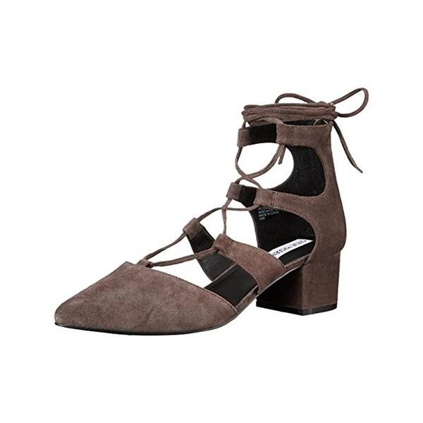 Steve Madden Womens Wishez Dress Sandals Pointed Toe Block Heel
