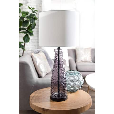 "nuLOOM 29'' Raelene Glass Linen Shade Table Lamp - 29"" h x 13"" w x 13""d"