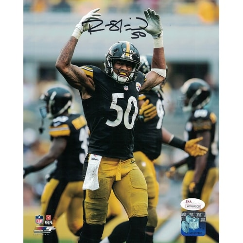 77c9c857f Shop Ryan Shazier Autographed Pittsburgh Steelers 8x10 Photo Arms Up ...