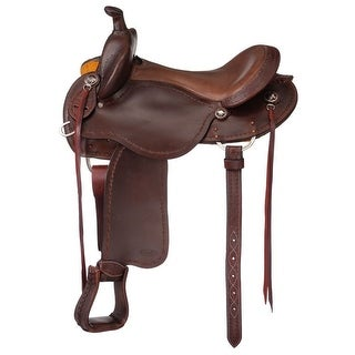 Tough-1 Saddle Brisbane Trail With Horn Durable Horse Gear Tack