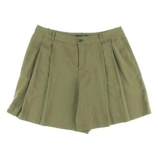 Lauren Ralph Lauren Womens Pleated Solid Dress Shorts