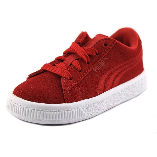 0b6674ebfe48ce Shop Puma Suede Classic Badge V Toddler Round Toe Suede Red Sneakers ...