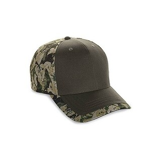 New Six Panel Cotton Twill Camo Cap Adult Mens Women Hat (BS.OLIVE)