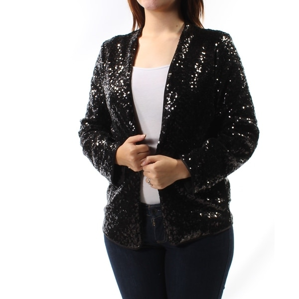 73af0f8e Shop KENSIE $139 Womens New 1307 Black Sequined Party Jacket M B+B - Free  Shipping On Orders Over $45 - Overstock - 22429808