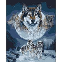 "Paint By Number Kit 16""X20""-Wolf Dreamcatcher"