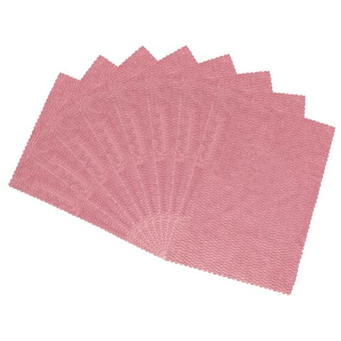"Cleaning Cloth Towels 8pcs, 15.7"" x 11.8"" Highly Absorbent Dish Towels Pink - 8pcs"