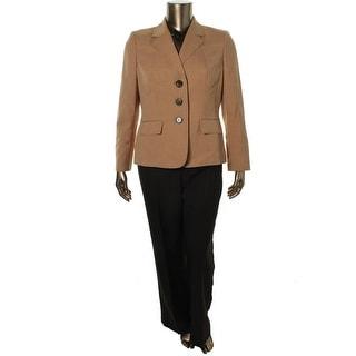 Le Suit Womens Crosshatch 2PC Pant Suit - 14