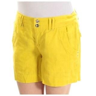 Womens Yellow Casual Straight leg Short Size 0