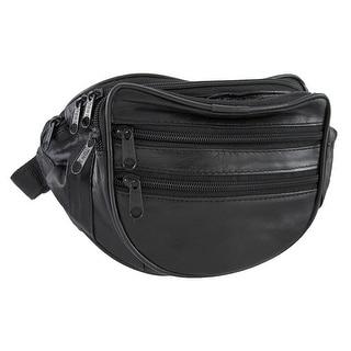 Black Sheepskin Leather Waist Pouch/waist Pack