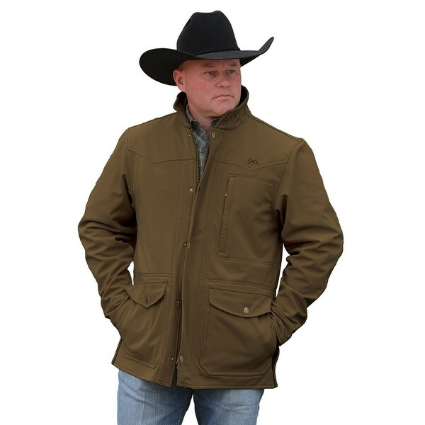 Miller Ranch Western Coat Mens Carcoat Softshell Brown