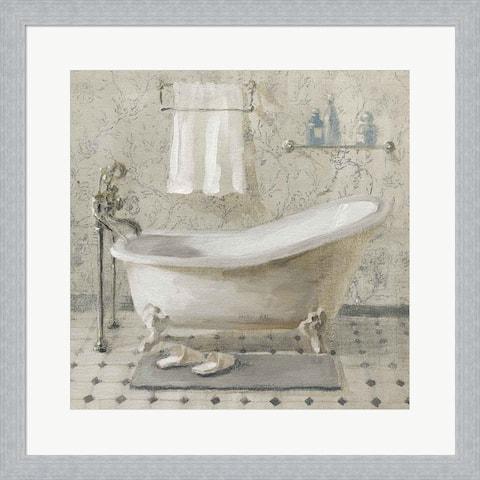 Danhui Nai 'Victorian Bath III Neutral' Framed Art