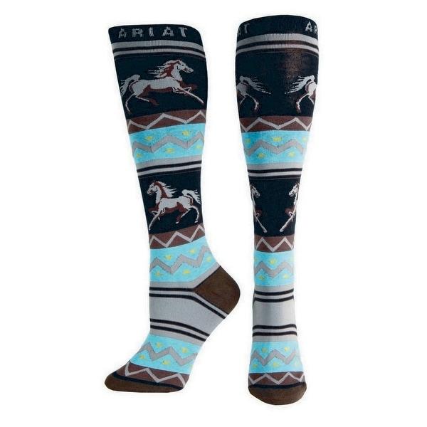Ariat Socks Womens Western Knee High Apache Coffee