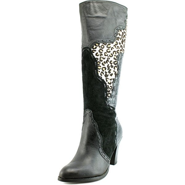 Very Volatile Stampede Pointed Toe Leather Knee High Boot