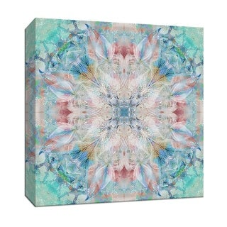 """PTM Images 9-147872  PTM Canvas Collection 12"""" x 12"""" - """"Kaleidoscope Feathers"""" Giclee Abstract Art Print on Canvas"""