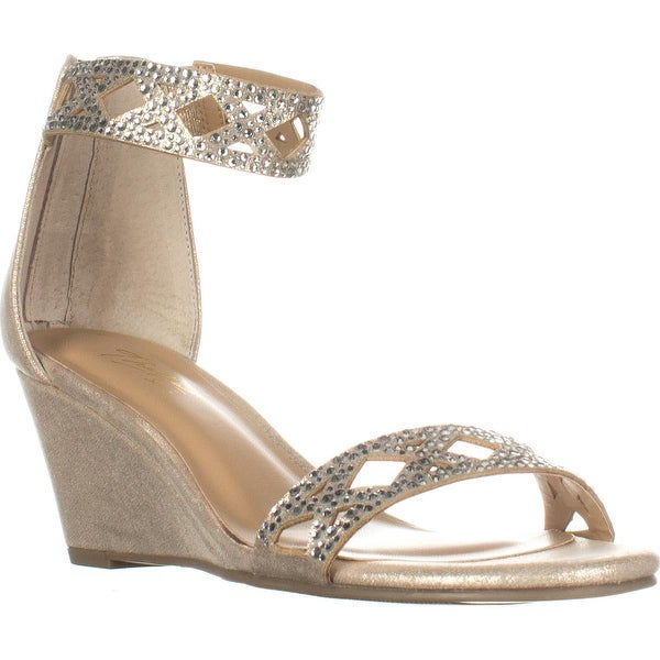 TS35-Addis Ankle Strap Wedge Sandals, Champagne