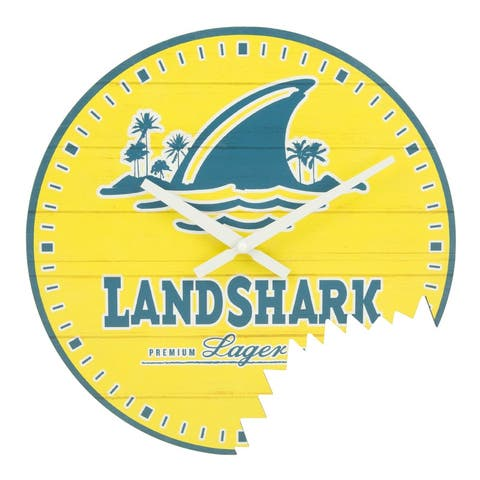 La Crosse Clock 404-3435 14-Inch Landshark Indoor Analog Wall Clock