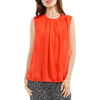 Vince Camuto Womens Blouse Pleated Sleeveless