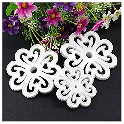 AGPtek 3PCS Food Grade Plastic Fondant Sugarcraft Gum Paste Decorating Kit Cake Mold Cookie Cutter - Floral Shape