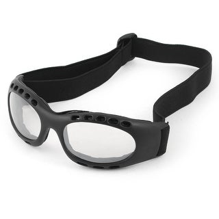 Unique Bargains Elastic Strap Black Frame Clear Lens Ski Snow Cycling Goggles Glasses for Unisex