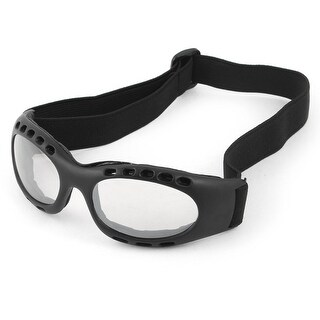 Unique Bargains Elastic Strap Black Frame Clear Lens Ski Snow Cycling Goggles Glasses for Unisex
